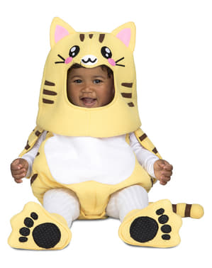 Deluxe kitten kostuum voor baby's