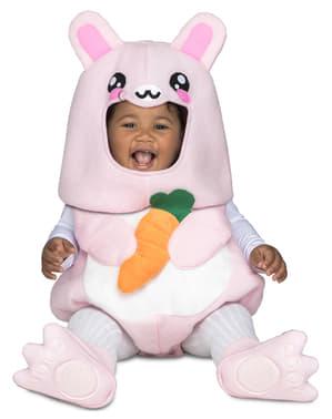 Bebekler için lüks tavşan tavşan kostümü