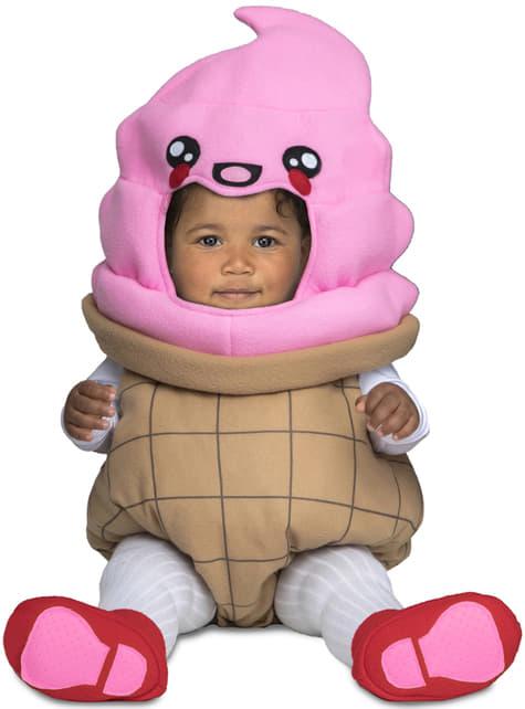Disfraz de helado deluxe para bebé