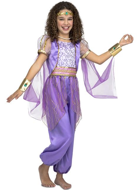 Disfraz de princesa oriental morado para niña