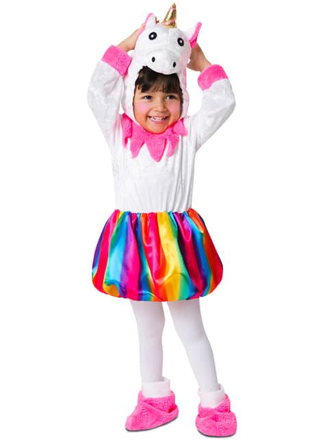 Disfraz de unicornio multicolor adorable para niña