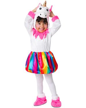 Costume da unicorno multicolore adorabile per bambina