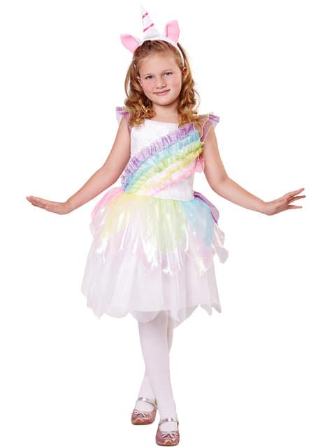Disfraz de unicornio arcoíris para niña