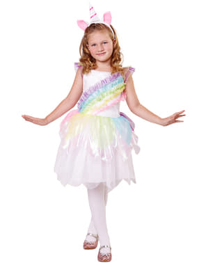 Regenbogen Einhorn Kostüm für Mädchen