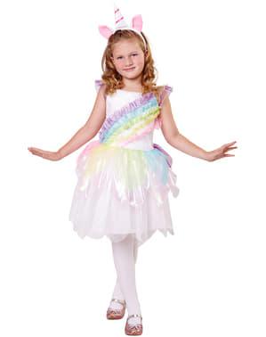 Regenboog eenhoorn kostuum voor meisjes