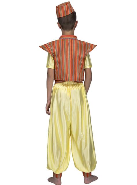 Yellow Arabian Prince Costume for Boys