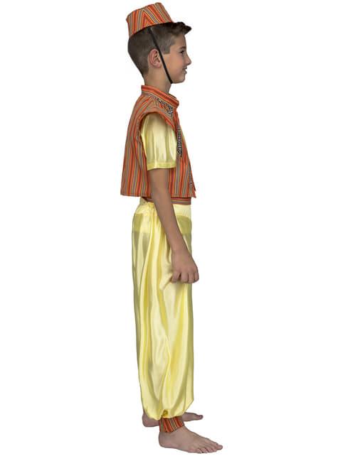Disfraz de príncipe oriental amarillo para niño - original
