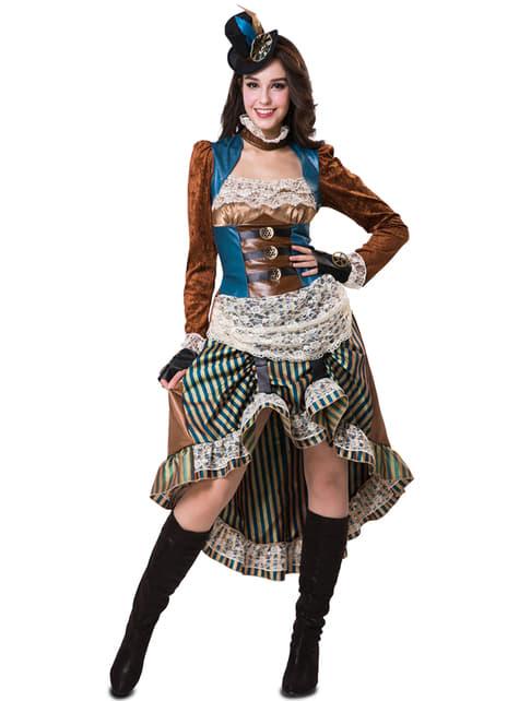Disfraz de steampunk elegante para mujer