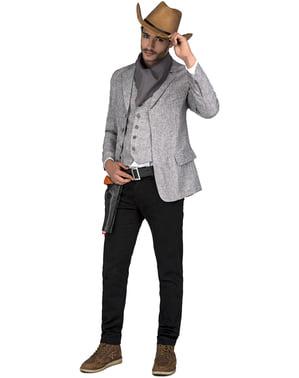 Cowboy kostume til mænd i grå