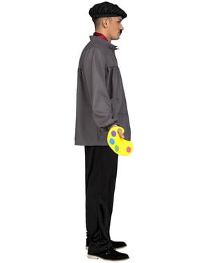 Pánský kostým umělecký malíř šedý