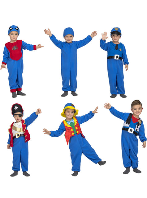 Blue Quick n Fun costume for kids