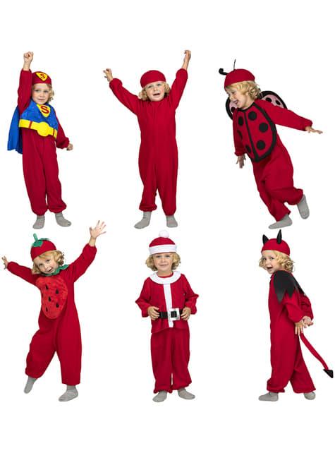 Disfraz de Quick n Fun rojo infantil