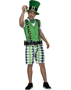 Costum de leprechaun irlandez classic pentru bărbat