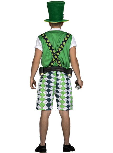 Disfraz de leprechaun irlandés classic para hombre - hombre
