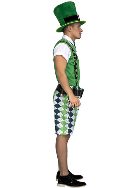 Disfraz de leprechaun irlandés classic para hombre - original