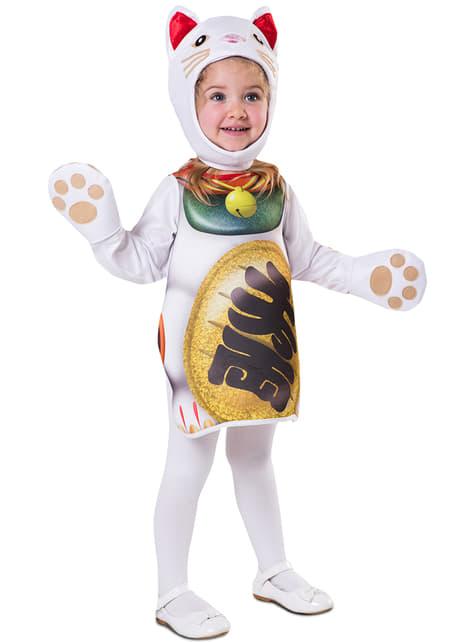 Bebekler için şanslı yavru kedi kostümü