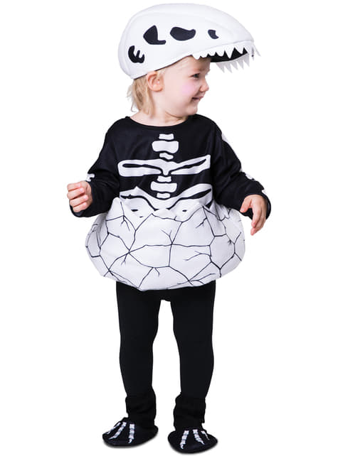 Newborn dinosaur skeleton costume for babies