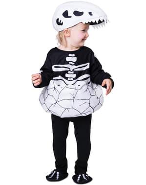 Pasgeboren dinosaurus skelet kostuum voor baby's