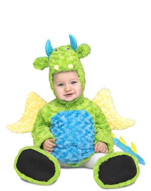 Déguisement dinosaure en peluche vert enfant