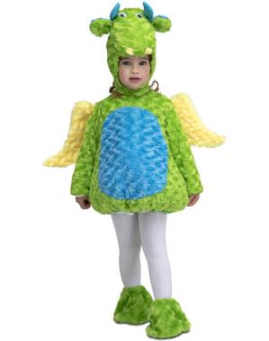 Disfraz de dinosaurio de peluche verde infantil