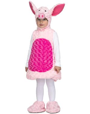 Disfraz de cerdito de peluche rosa infantil