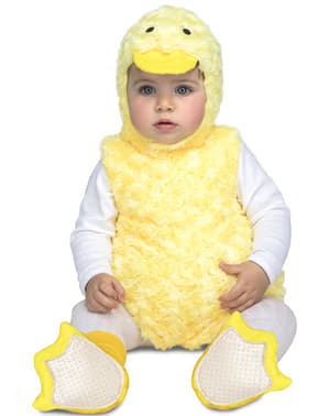 Disfraz de patito de peluche para bebé