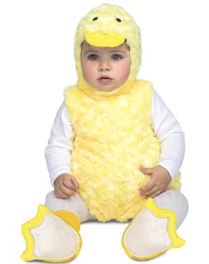 Fato de patinho de peluche para bebé