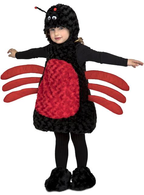Black spider toy costume for kids