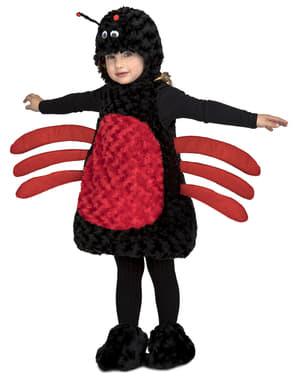 Spinnenstofftier Kostüm schwarz für Kinder