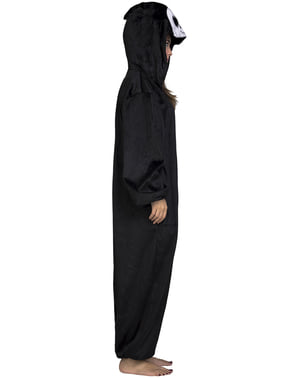 Ghost with big eyes onesie costume for adults