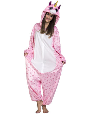 Déguisement licorne rose adorable onesie adulte
