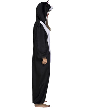 Чорний кіт onesie костюм для дорослих