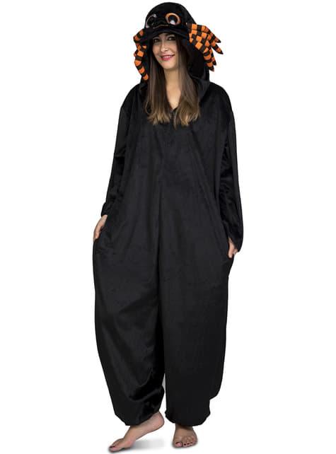 Black spider onesie costume for kids