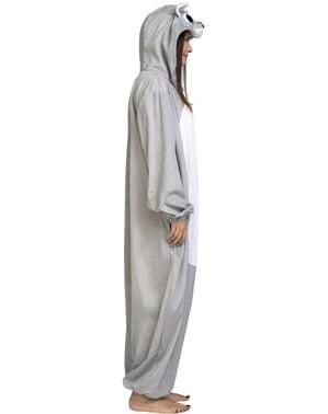 Costum de urs gri onesie pentru copii