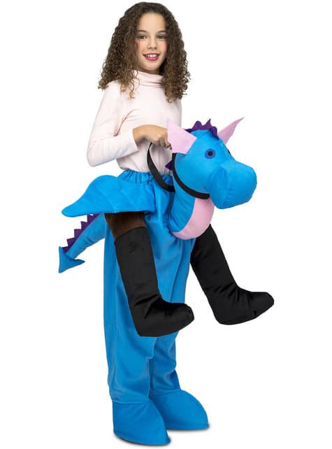 Disfraz de dragón azul ride on infantil