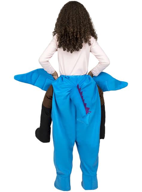 Disfraz de dragón azul ride on infantil - infantil