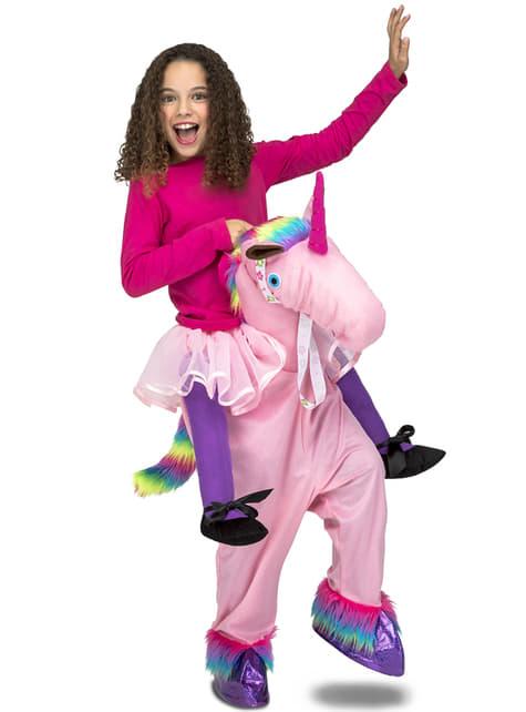 Disfraz de unicornio rosa ride on infantil