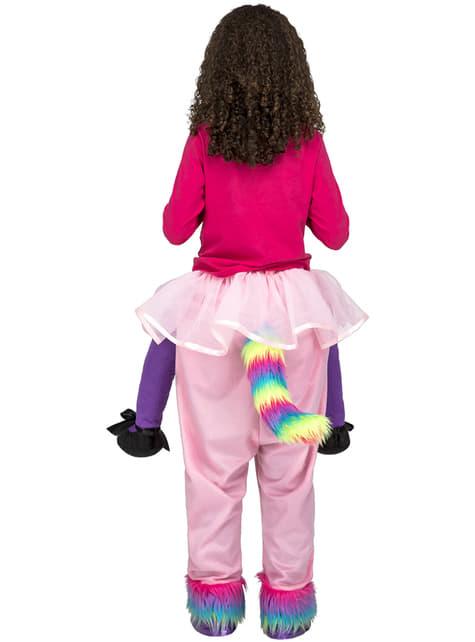Disfraz de unicornio rosa ride on infantil - infantil