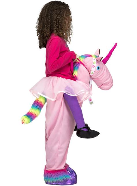 Disfraz de unicornio rosa ride on infantil - original