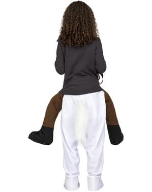 Disfraz a hombros de caballo blanco infantil