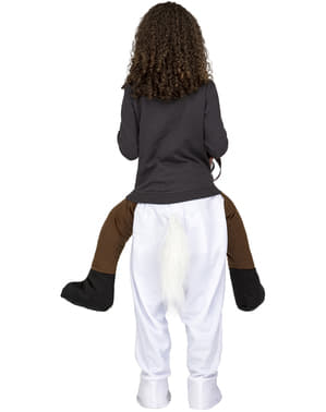 White Horse Piggyback Costume for Kids