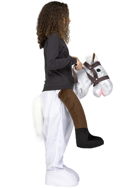 Ride on white horse costume for kids
