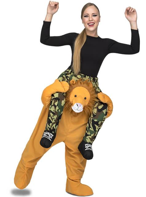 Déguisement lion porte-moi adulte