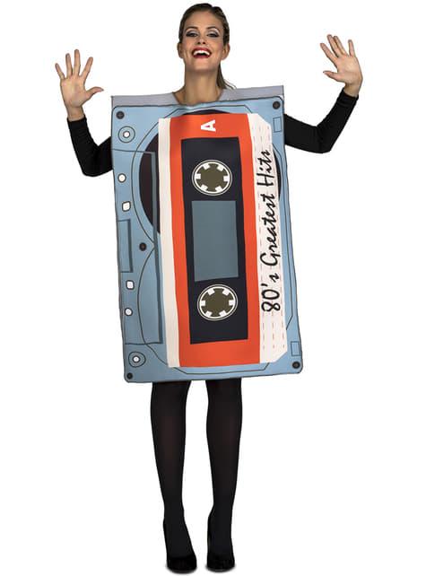 80's Cassette hits kostuum voor volwassen