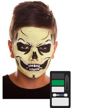 Maquilhagem de esqueleto maligno infantil
