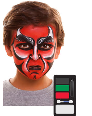 Rode demoon make-up voor kinderen