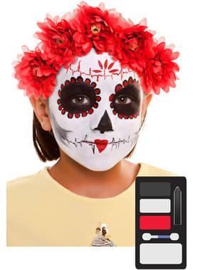Maquilhagem de Catrina infantil