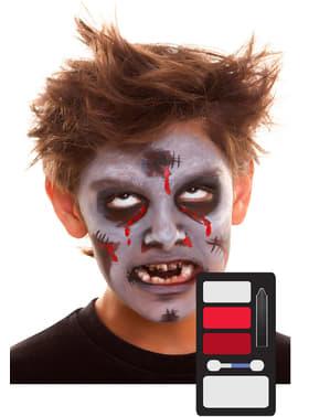 Maquilhagem de zombie infantil