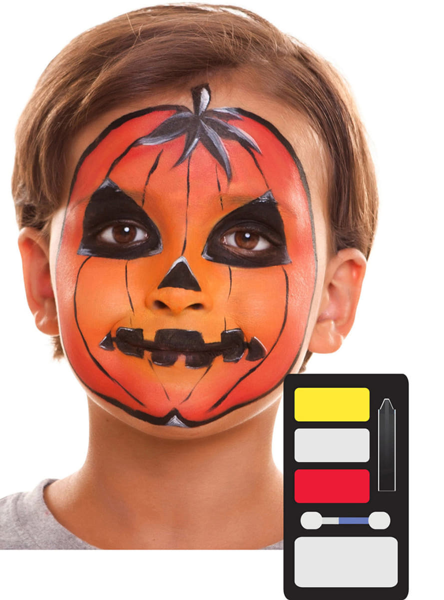 maquillage citrouille halloween enfant livraison 24h funidelia. Black Bedroom Furniture Sets. Home Design Ideas
