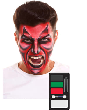 Red demon make-up for adults